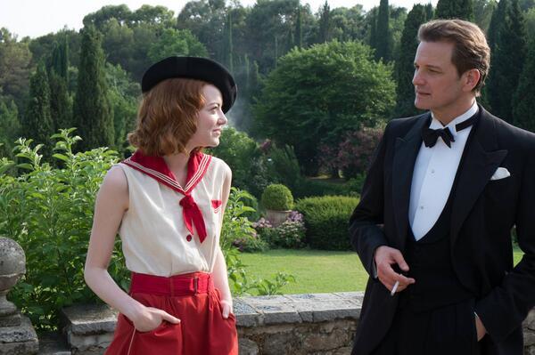 Magic in the Moonlight: Emma Stone e Colin Firth in una scena