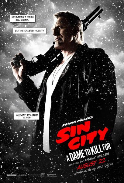 Sin City - Una donna per cui uccidere: il character poster di Marv, alias Mickey Rourke