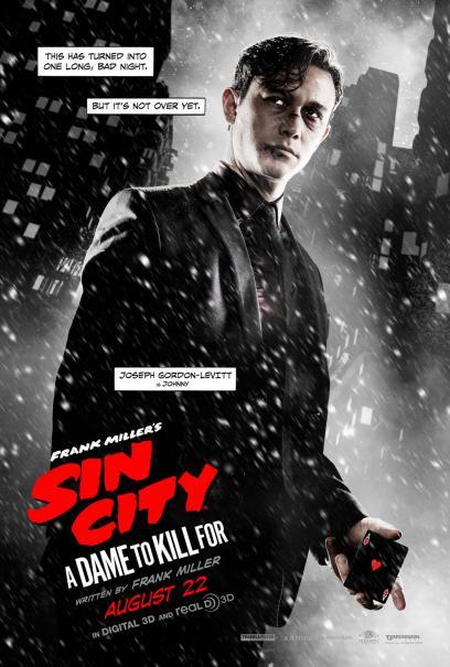 Sin City - Una donna per cui uccidere: il character poster di Johnny, alias Joseph Gordon-Levitt