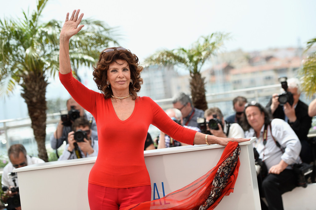 Sophia Loren al Festival di Cannes 2014
