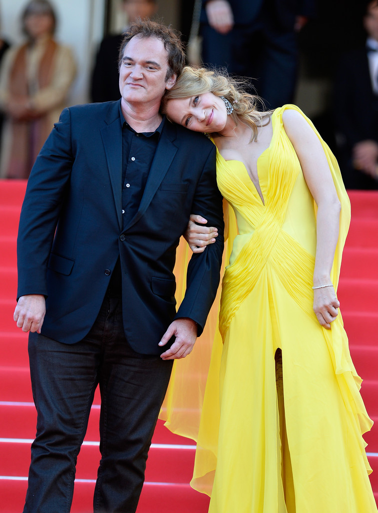 Pulp Fiction, 20 anni dopo: Uma Thurman, John Travolta e Quentin Tarantino sul red carpet di Cannes 2014