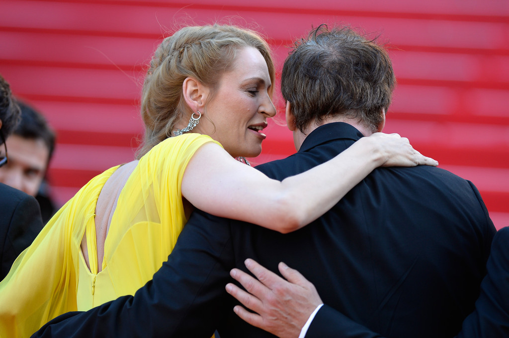 Pulp Fiction, 20 anni dopo: Uma Thurman, John Travolta e Tarantino sul red carpet di Cannes 2014