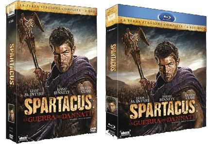 le cover degli homevideo di Spartacus - La guerra dei dannati