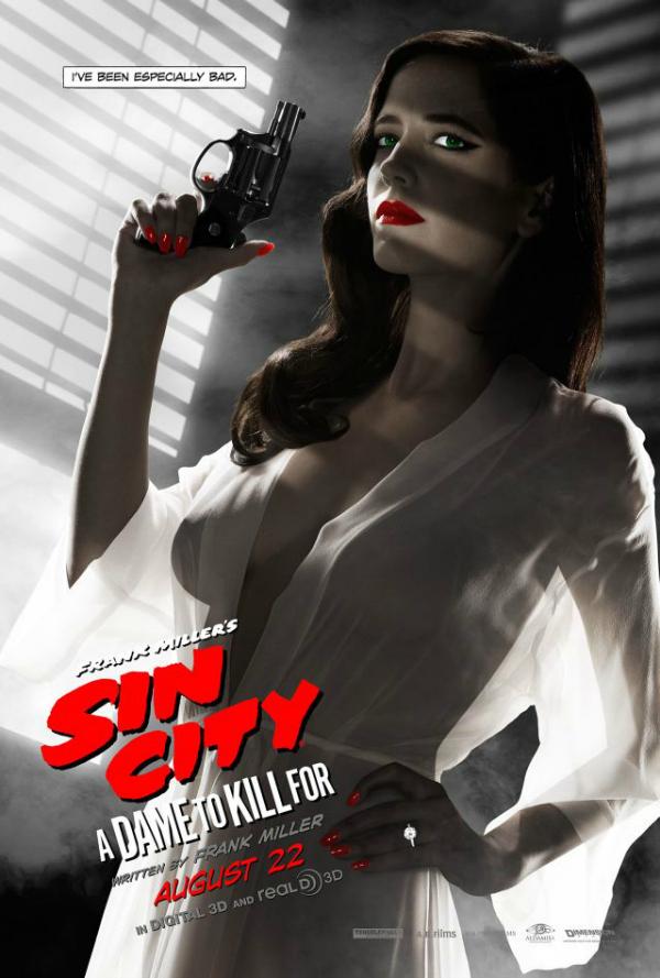 Sin City - Una donna per cui uccidere: il character poster di Ava Lord, alias Eva Green