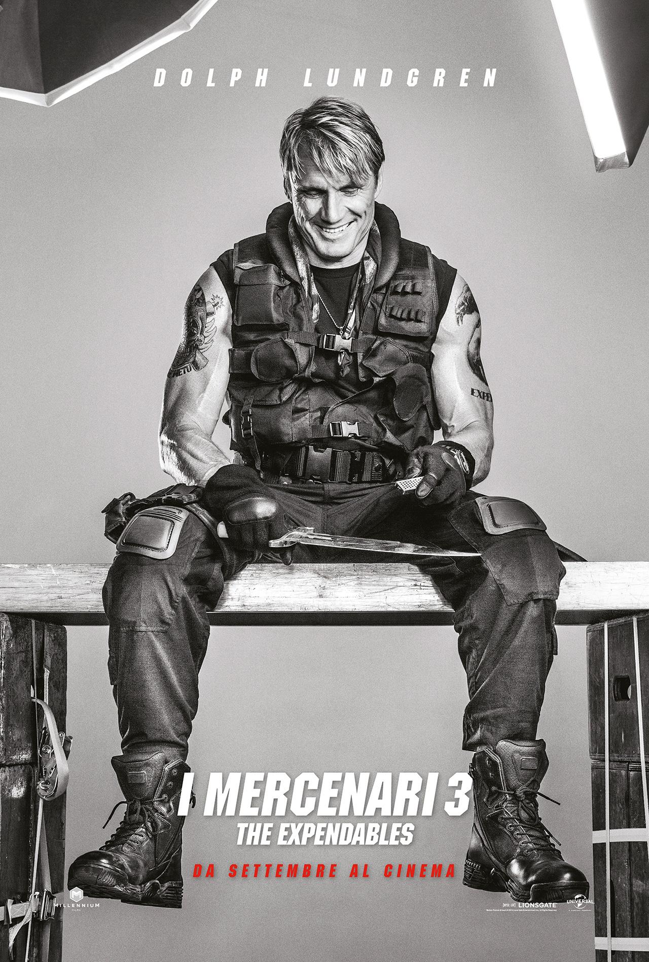 I Mercenari 3 - The Expendables: il character poster di Dolph Lundgren