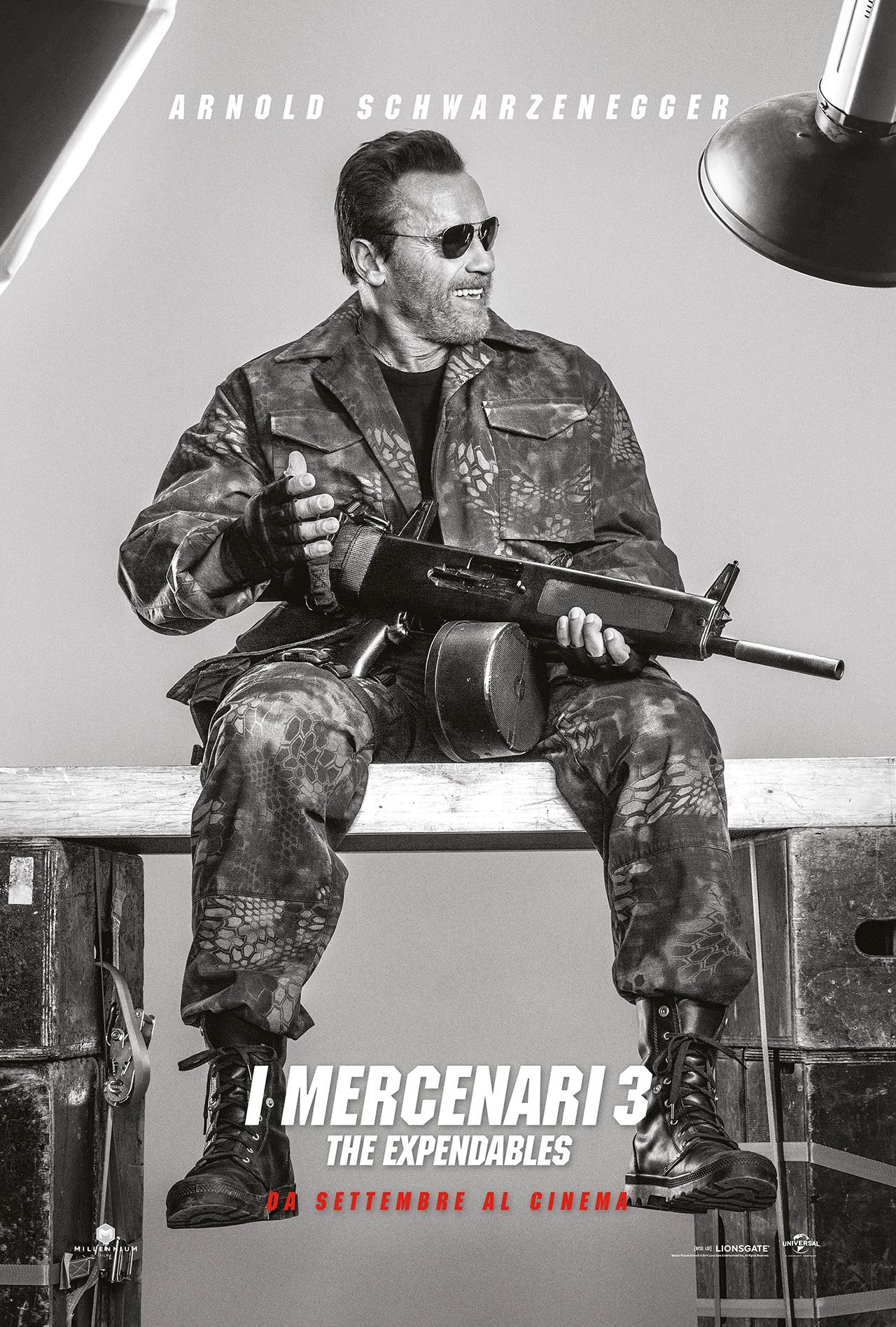 I Mercenari 3 - The Expendables: il character poster di Arnold Schwarzenegger