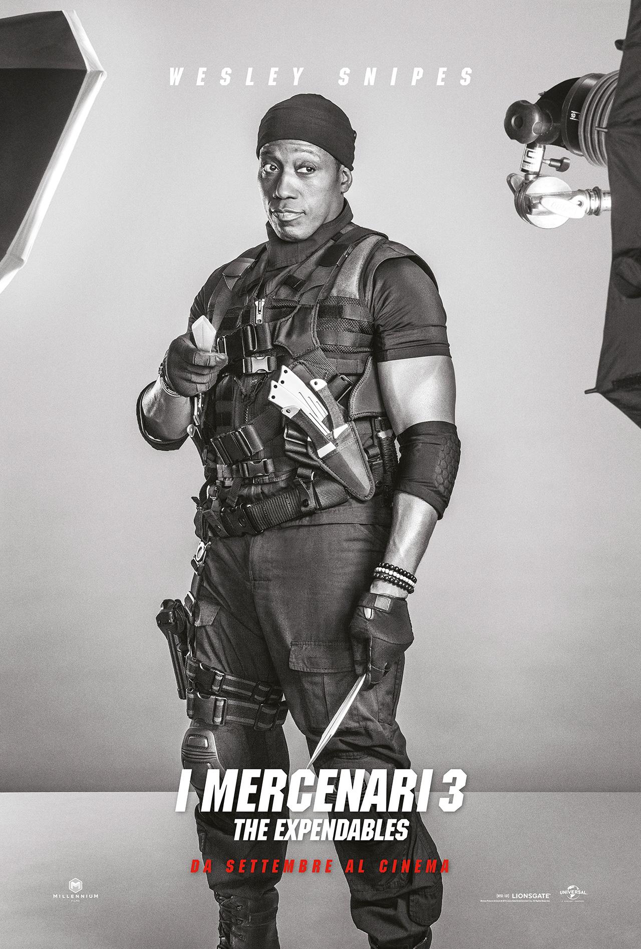 I Mercenari 3 - The Expendables: il character poster di Wesley Snipes