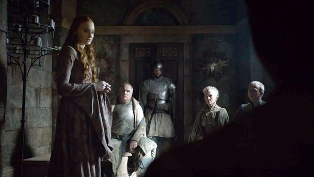Il trono di spade: Sophie Turner in una scena dell'episodio The Mountain and the Viper
