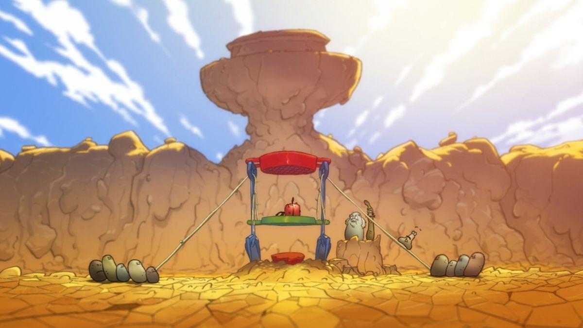 La mela e il verme: una scena del film d'animazione
