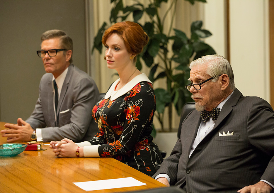 Mad Men: Harry Hamlin, Christina Hendricks e Robert Morse in Field Trip