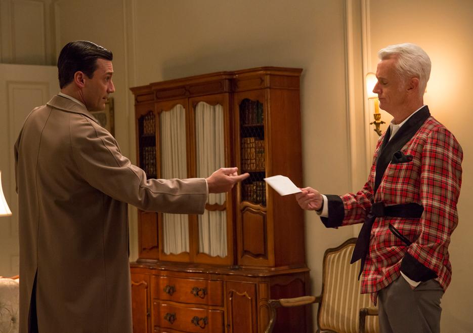 Mad Men: Jon Hammer e John Slattery nell'episodio Field Trip