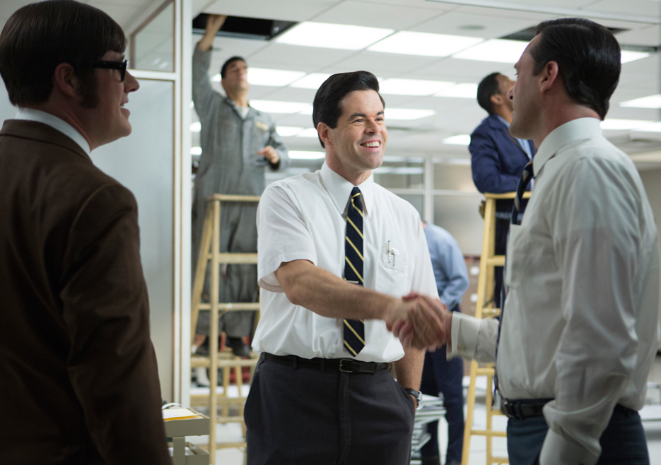 Mad Men: Jon Hamm, Robert Baker e Harry Cranek nell'episodio The Monolith