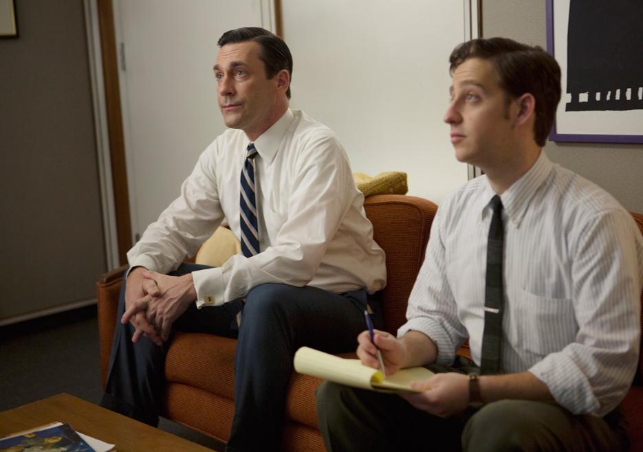 Mad Men: Jon Hamm e Trevor Einhorn nell'episodio The Monolith
