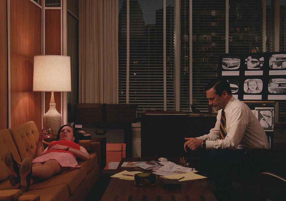Mad Men: Jon Hamm e Elisabeth Moss nell'episodio The Strategy