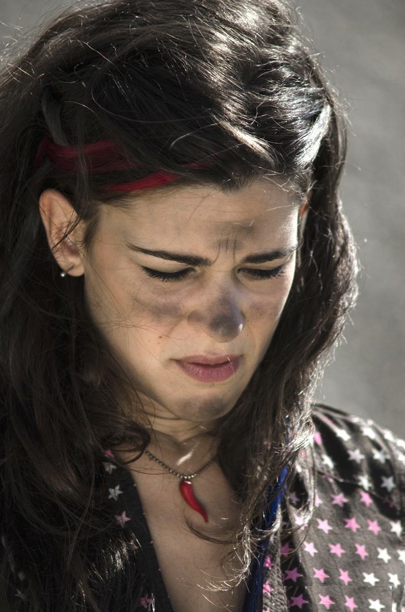 Ragazze a mano armata: Giovanna Verdelli nei panni di Stella in una scena
