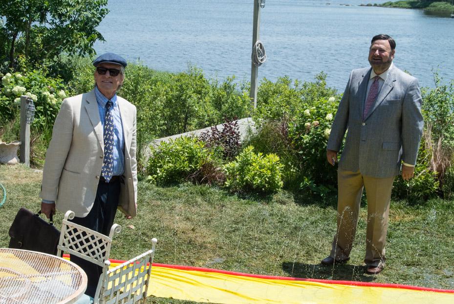 Mai così vicini: Michael Douglas con Rob Reiner in una scena del film