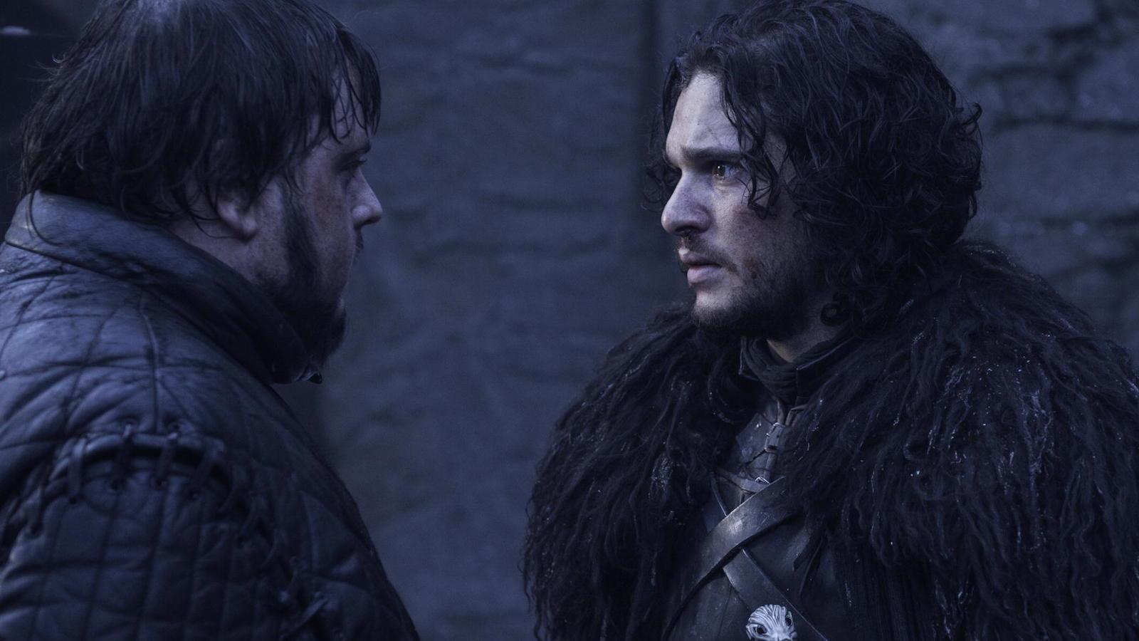 Il trono di spade: Kit Harington e John Bradley nell'episodio The Watchers on the Wall