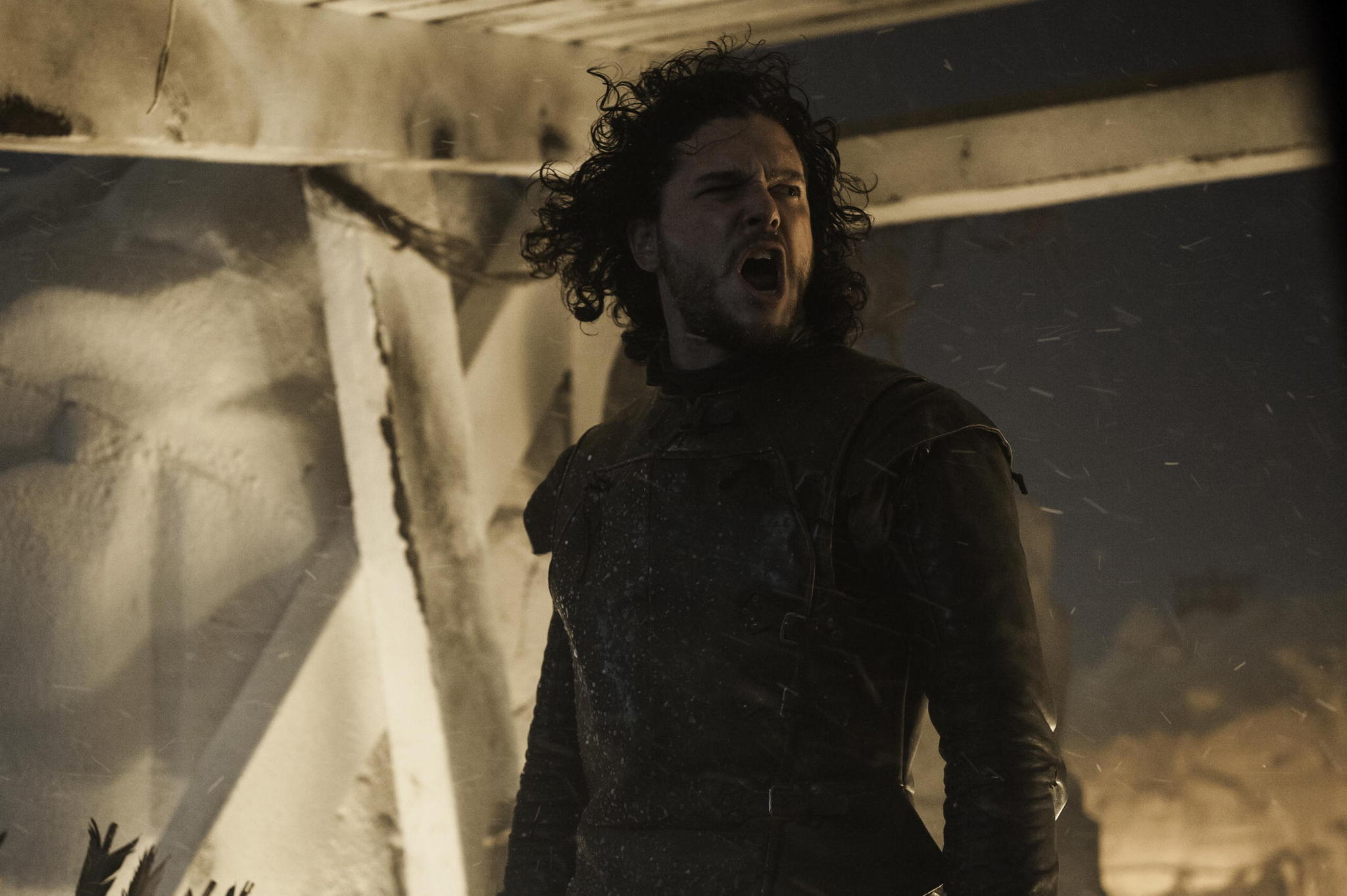 Il trono di spade: Kit Harington in una scena di The Watchers on the Wall