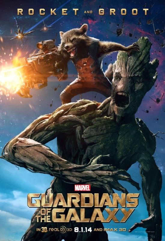 Guardiani della Galassia: il character poster di Rocket e Groot