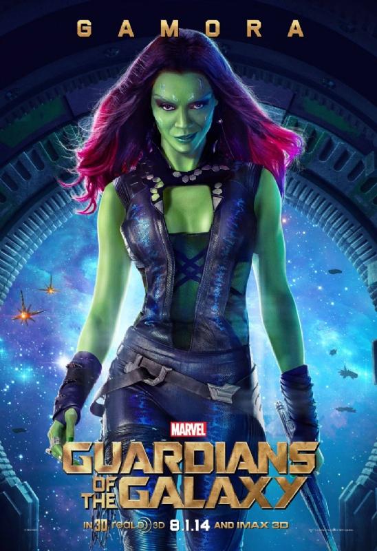 Guardiani della galassia: il character poster di Zamora, alias Zoe Saldana