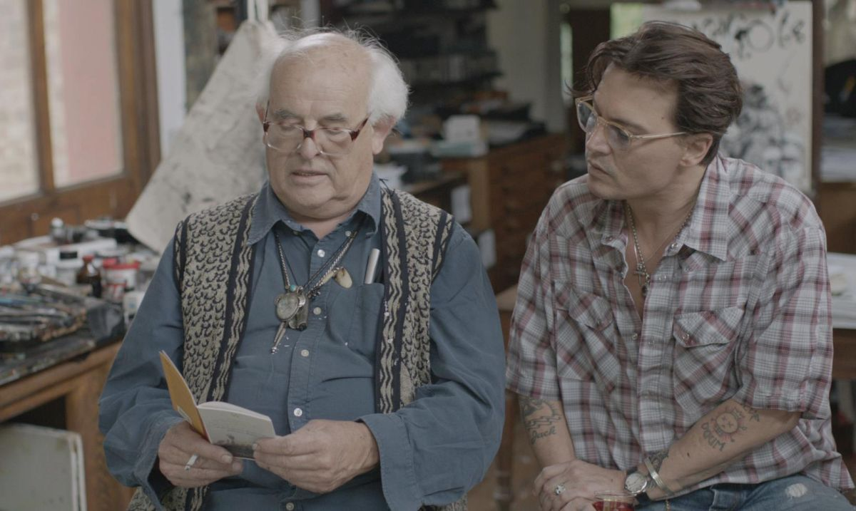 Per nessuna buona ragione: Johnny Depp al fianco di Ralph Steadman in una scena