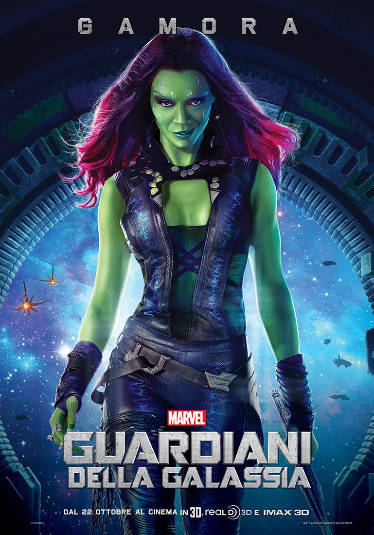 Guardiani della Galassia: il character poster italiano di Zoe Saldana nei panni di Gamora
