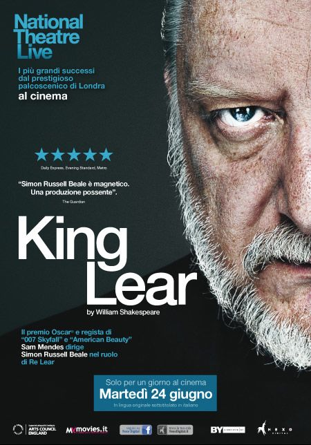 King Lear: la locandina dell'evento del Nation Theatre