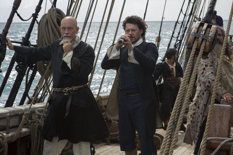 Crossbones: Richard Coyle insieme a John Malkovich in The Man Who Killed Blackbeard