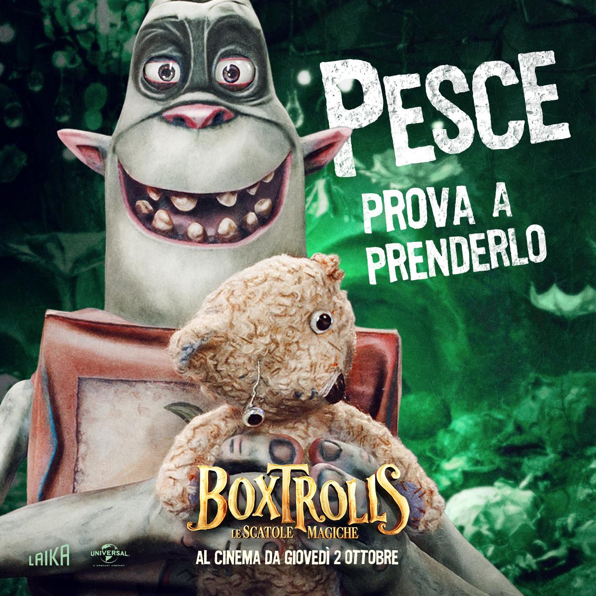 Boxtrolls - Le scatole magiche: il character banner italiano di Pesce