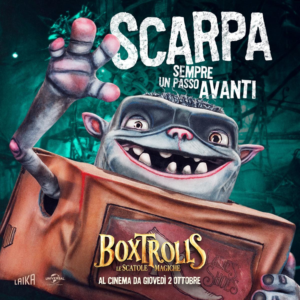 Boxtrolls - Le scatole magiche: il character banner italiano di Scarpa