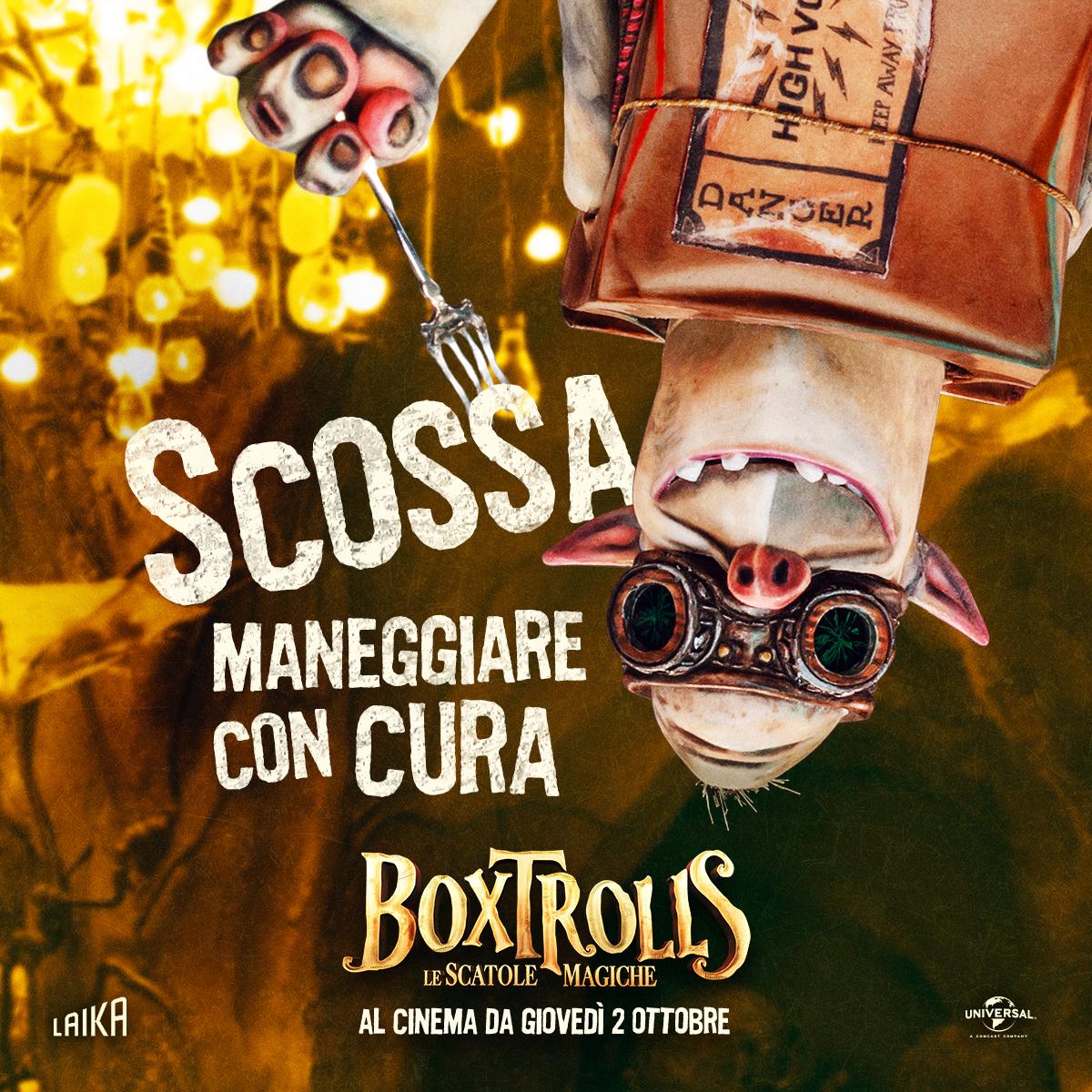 Boxtrolls - Le scatole magiche: il character banner italiano di Scossa