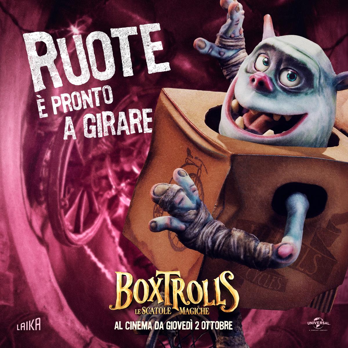Boxtrolls - Le scatole magiche: il character banner italiano di Ruote