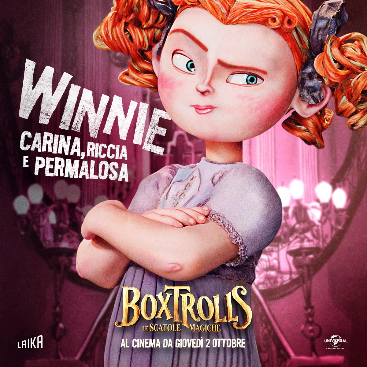 Boxtrolls - Le scatole magiche: il character banner italiano di Winnie