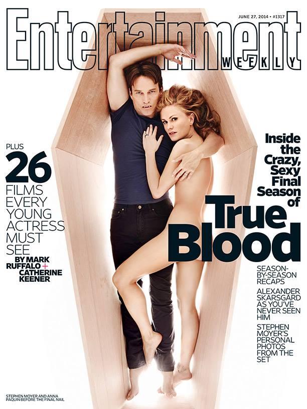 True Blood: Anna Paquin e Stephen Moyer in una cover dedicata all'ultima stagione