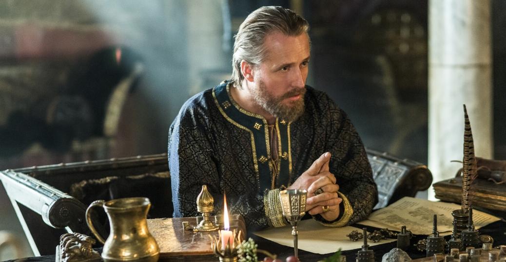 Vikings: Linus Roache nell'episodio Treachery