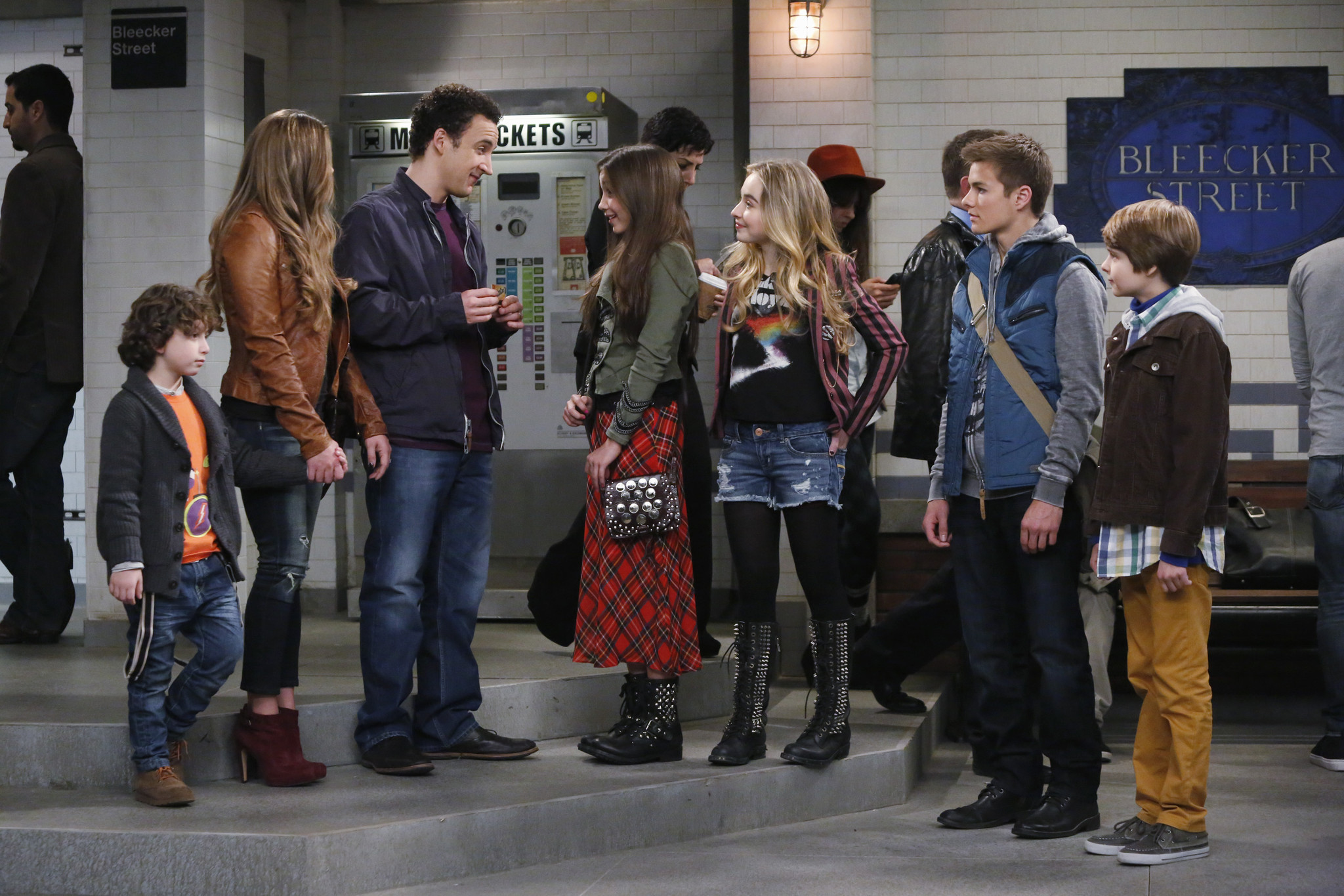 Girl Meets World: il cast in una scena del pilot