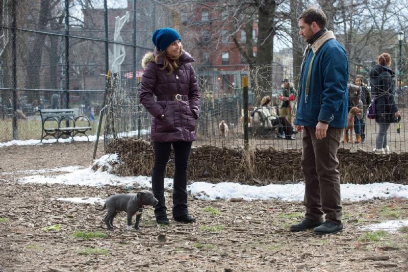 Chi è senza colpa: Tom Hardy e Noomi Rapace passeggiasno al parco