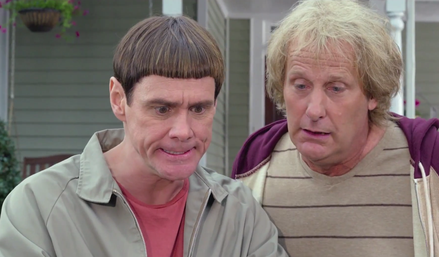 Scemo & + scemo 2: Jeff Daniels e Jim Carrey in un'immagine del film