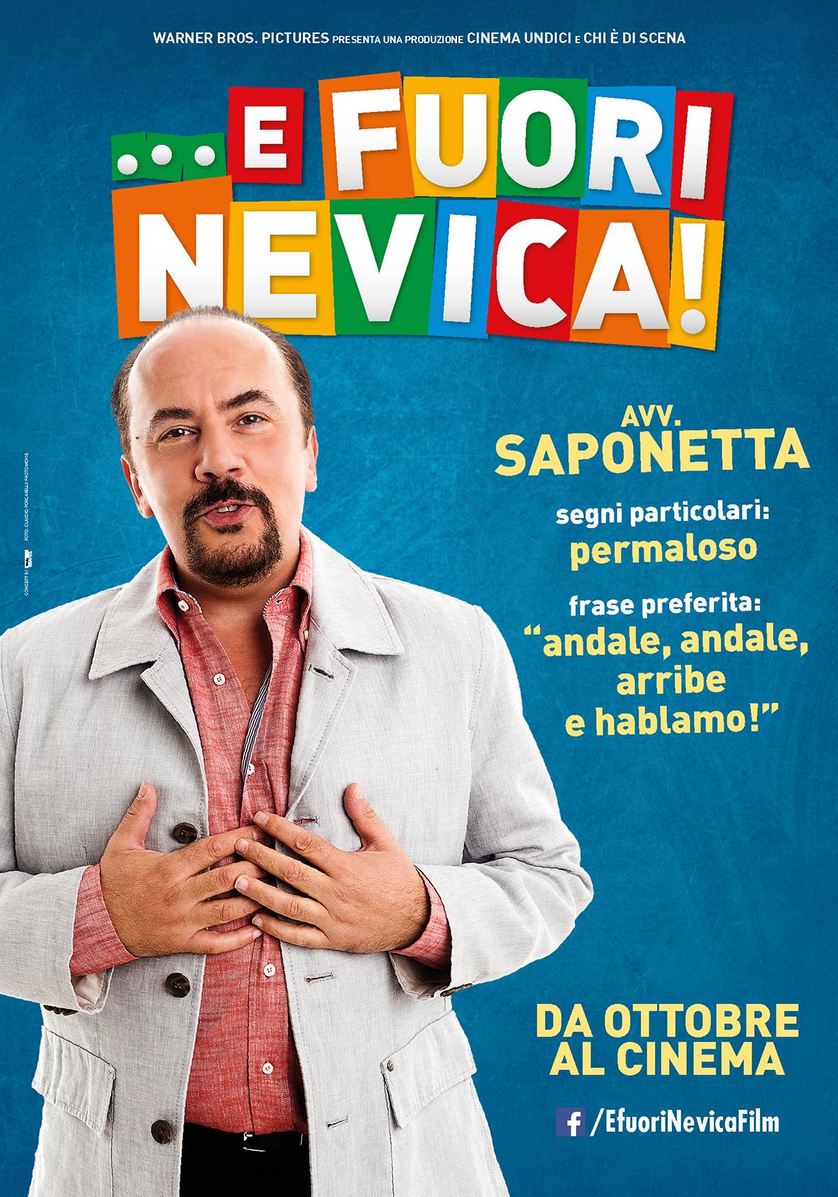 ...E fuori nevica!: Maurizio Casagrande nel character poster dell'Avvocato Saponetta