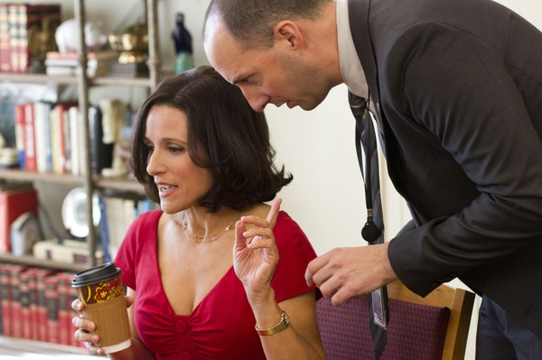 Veep: Julia Louis-Dreyfus in una scena dell'episodio Fundraiser