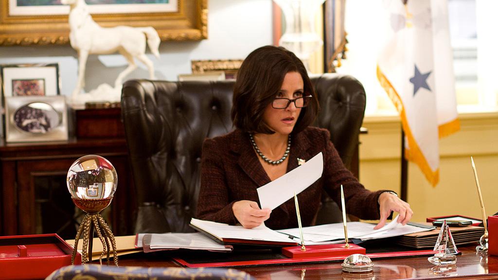 Veep: Julia Louis-Dreyfus nell'episodio Chung, della prima stagione