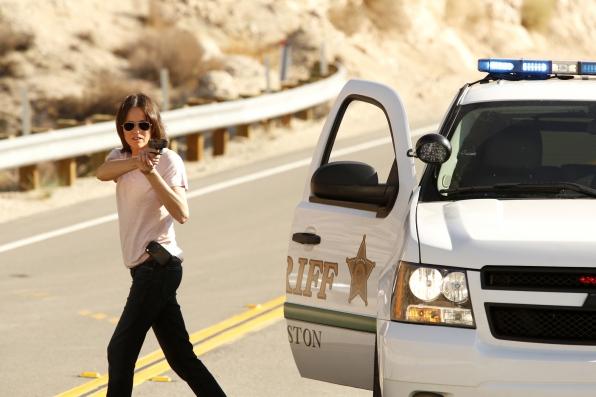 CSI: Jorja Fox una scena dell'episodio Girl Gone Wild