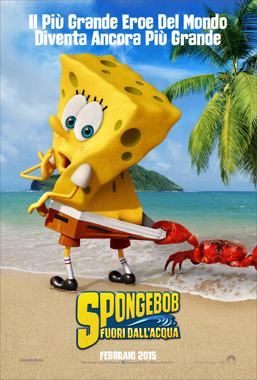 Teaser poster italiano di SpongeBob - Fuori dall'acqua