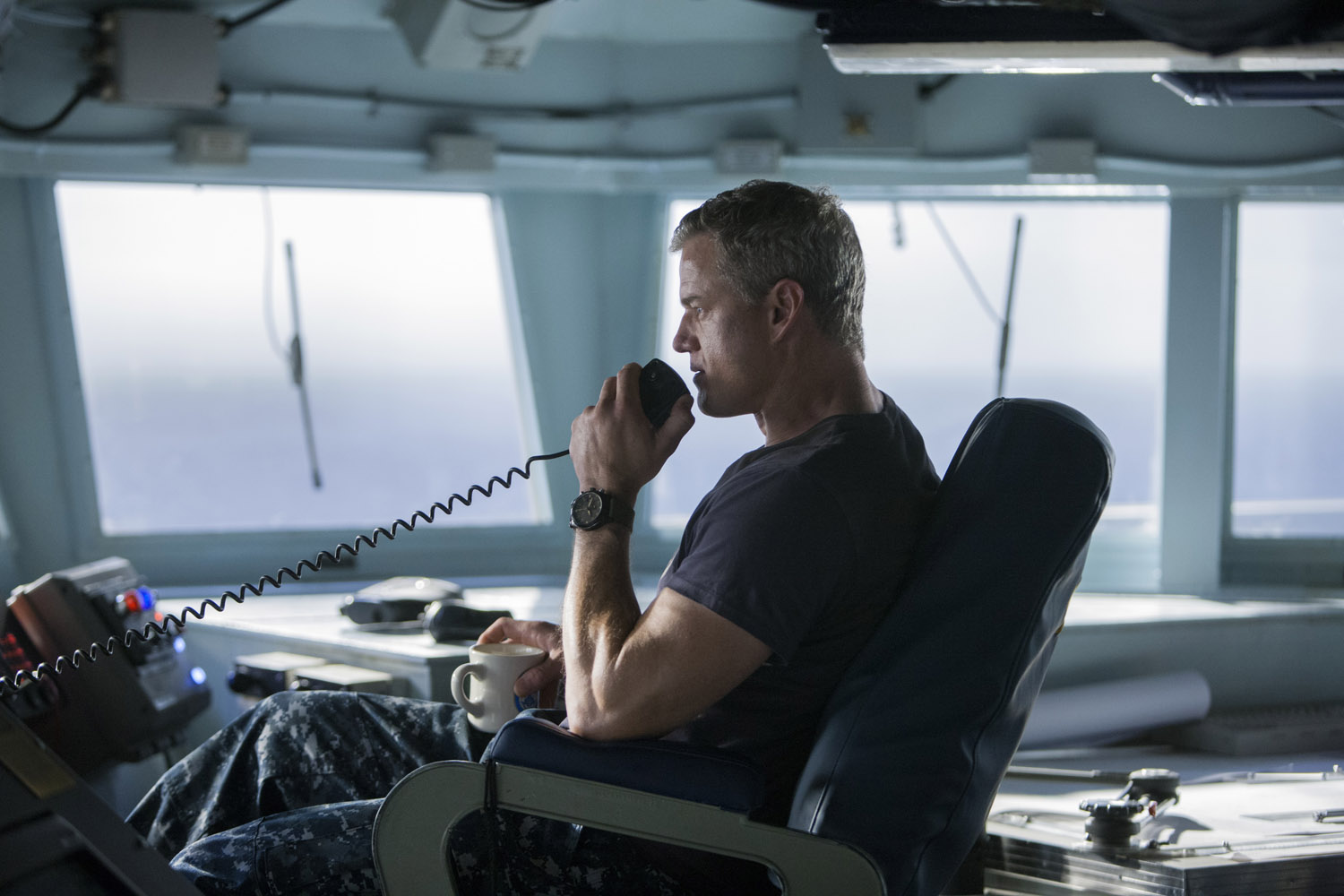 The Last Ship: Eric Dane in un momento dell'episodio Dead Reckoning