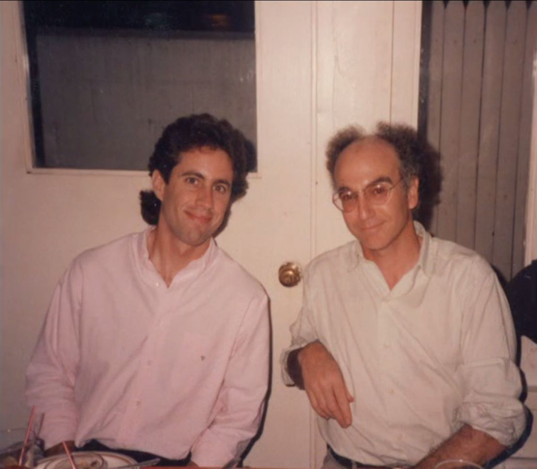 Seinfeld: Jerry Seinfeld e Larry David in una foto d'epoca