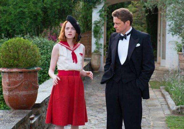 Magic in the Moonlight: Emma Stone appare stupita e Colin Firth con lei