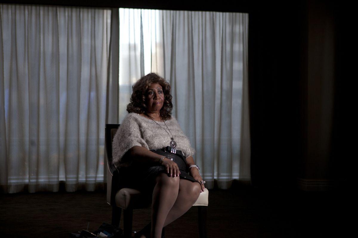 Muscle Shoals - Dove nascono le leggende: la grande Aretha Franklin in un'immagine del film