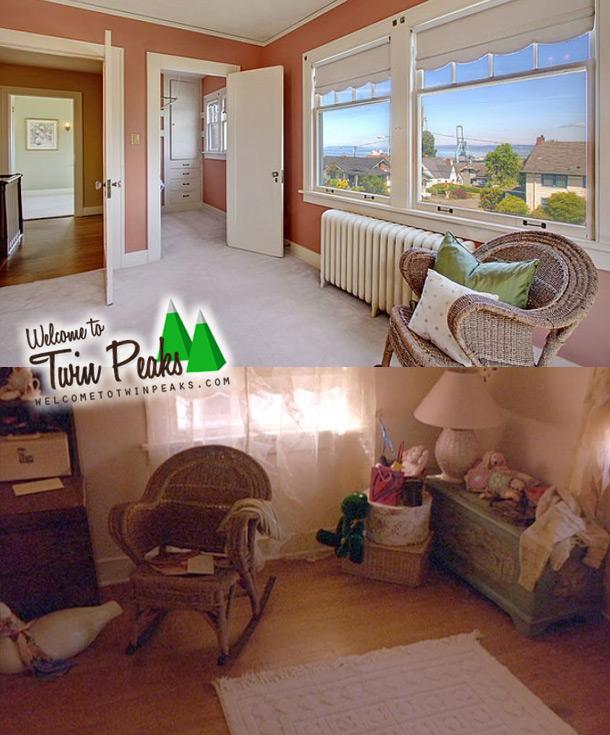 Twin Peaks, la stanza di Laura Palmer nella serie e nella realtà