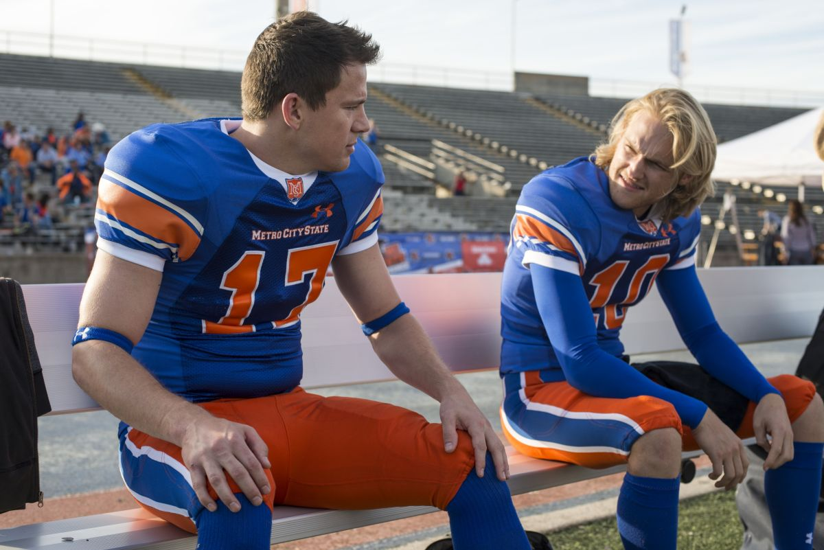 22 Jump Street: Channing Tatum e Wyatt Russell in una scena del film