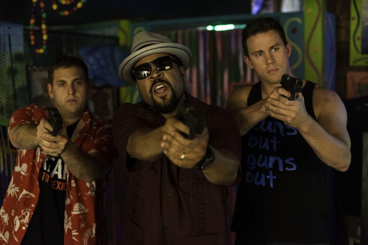 22 Jump Street: Channing Tatum, Ice Cube e Jonah Hill in una scena del film